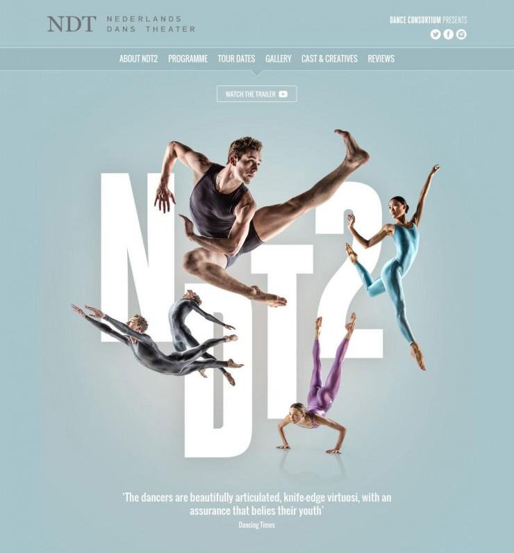 Website For Nederland Dans Theater 2 UK Tour 2016